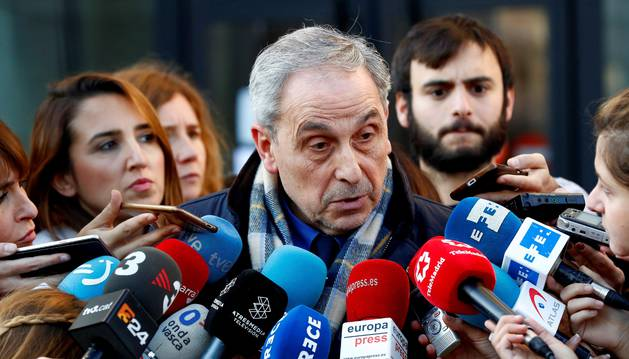 Carlos Bacaicoa, abogado de la joven madrileña en el juicio contra cinco acusados por la supuesta violación grupal en los Sanfermines de 2016.