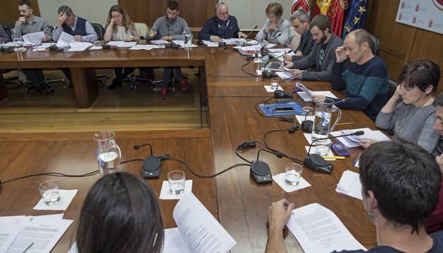 Celebración del pleno del Ayuntamiento de Estella