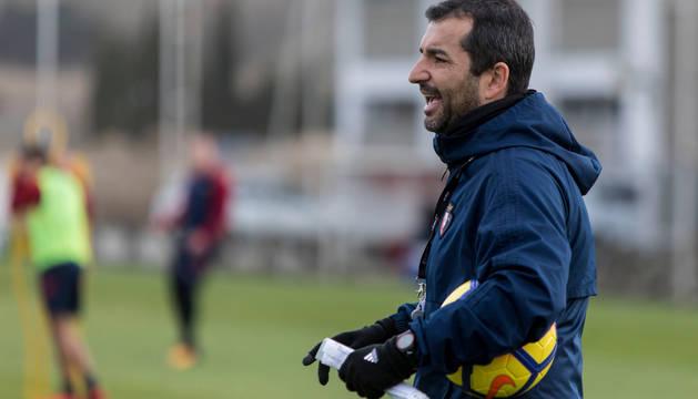 Diego Martínez, en un entrenamiento.