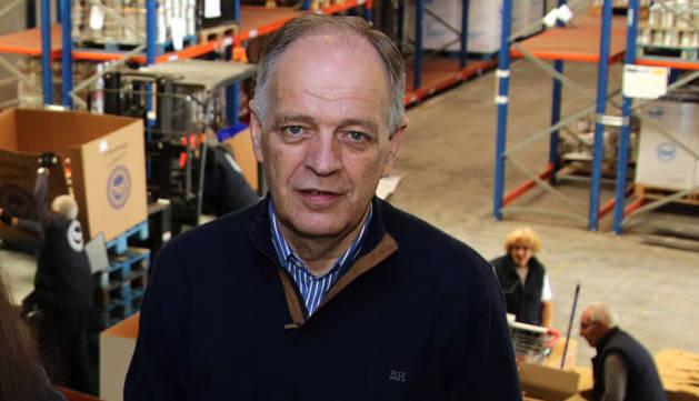 Gregorio Yoldi Lizarraga, presidente del Banco de Alimentos.