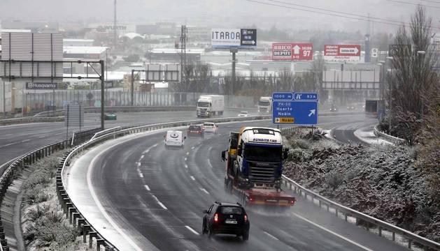 El estado de las carreteras navarras por la nieve