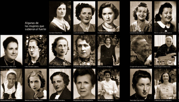 Algunas de las mujeres que subieron al fuerte