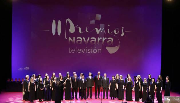 Momento de la gala de los II Premios Navarra Televisión celebrada en el Baluarte de Pamplona