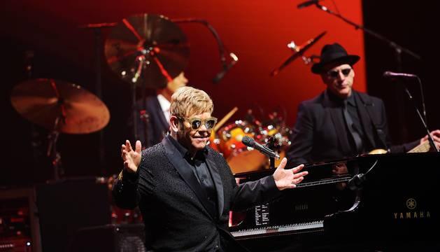Elton John en el concierto celebrado en el Palau Sant Jordi