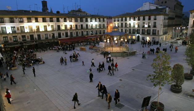 La Plaza de los Fueros de Tudela