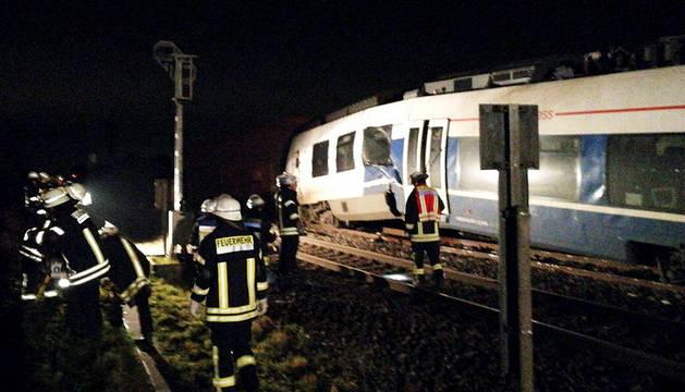 Decenas de heridos en un accidente ferroviario al oeste de Alemania