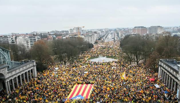 La manifestación, en Bruselas