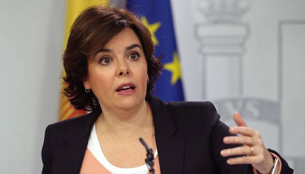 Imagen de la vicepresidenta del Gobierno, Soraya Sáenz de Santamaría.