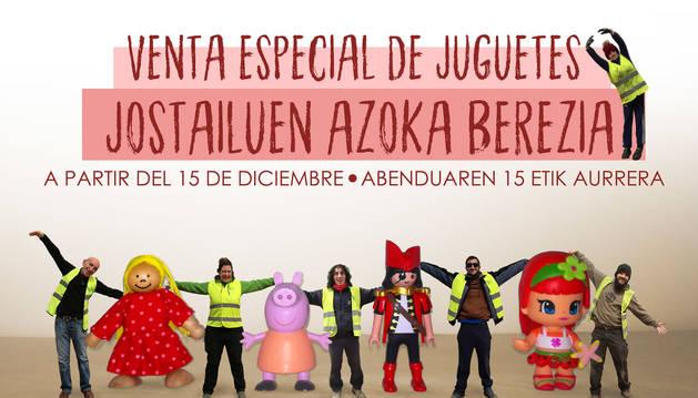 Cartel de la campaña de los juguetes de Navidad.