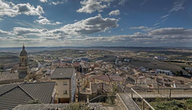 Vista de Arróniz, la mayor de las localidades coordinadas para el acceso a la red de banda ancha que ejerce como titular del proyecto.