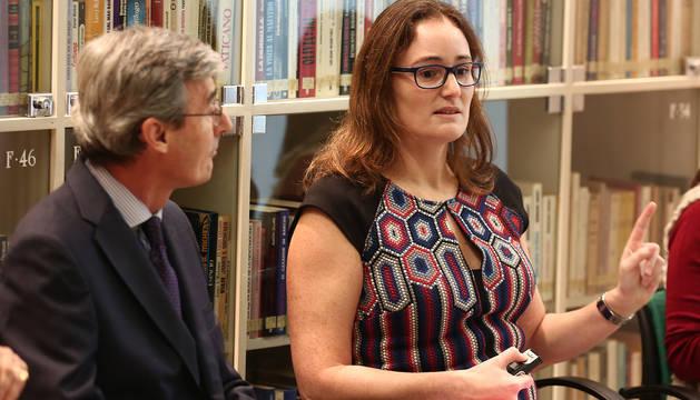 María Castañeda expone sus argumentos.