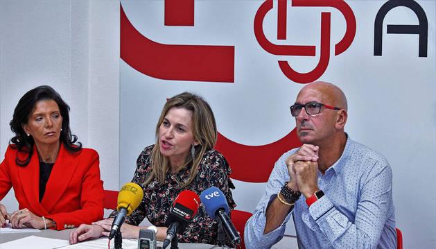 Esmeralda Landa, Yolanda Erro y Juan Carlos Laboreo