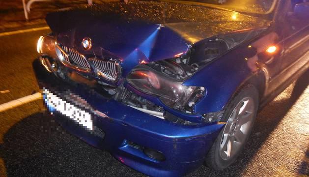 El frontal del coche que embistió