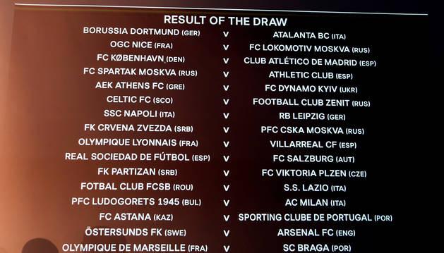 Spartak de Moscú, Salzburgo, Copenhague y Lyon, rivales de los españoeles