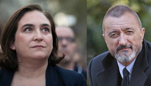 Pérez-Reverte y Ada Colau