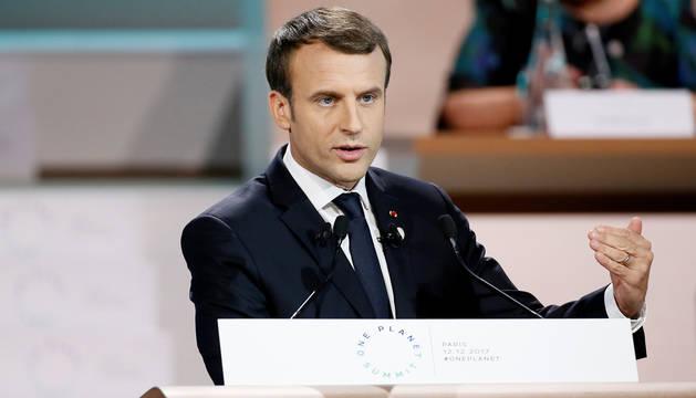 Macron afirma que el mundo