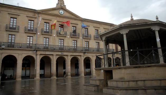 Fachada del Ayuntamiento de Tafalla