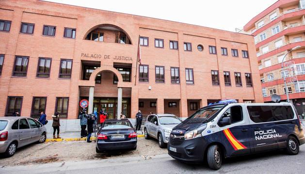 Imagen del juzgado de Aranda de Duero donde declararon los tres jugadores del Arandina Club de Fútbol.
