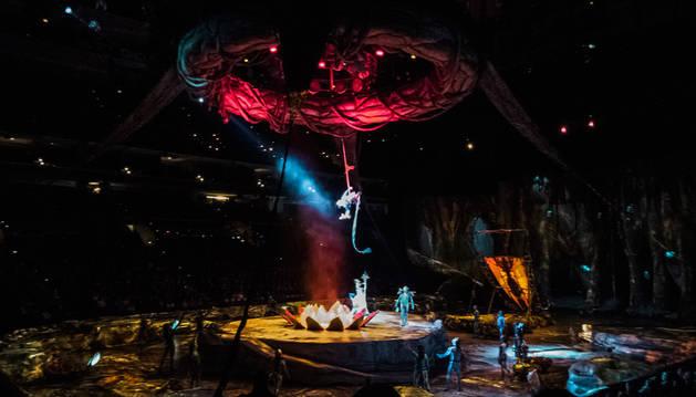 Imagen del espectáculo del Circo del Sol 'Toruk: el primer vuelo'.