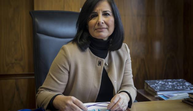 La abogada Cecilia Gutiérrez Ganzarain, en su despacho.
