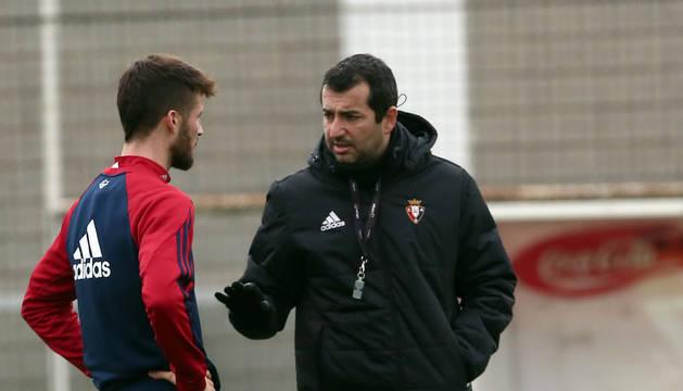 Oier y Diego, en Tajonar.