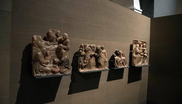 Vista del retablo de Santa Ana hoy en el Museo Diocesano de Lleida