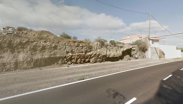 Imagen del kilómetro 9 de la TF-47 en el municipio Guía de Isora, donde ocurrieron los hechos.