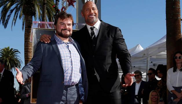 Dwayne Johnson y Jack Black, protagonistas de la nueva 'Jumanji'.
