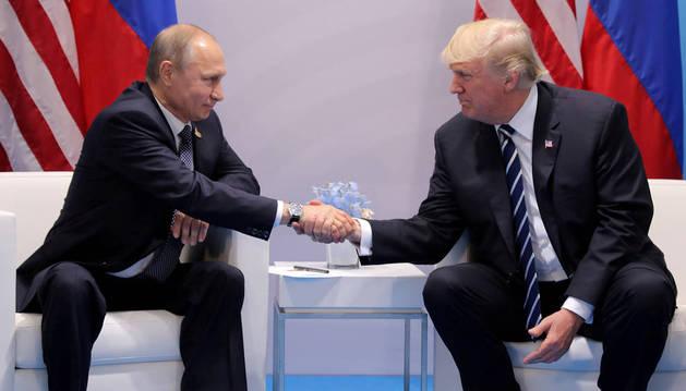 Putin, junto a Trump durante la última cumbre del G20.