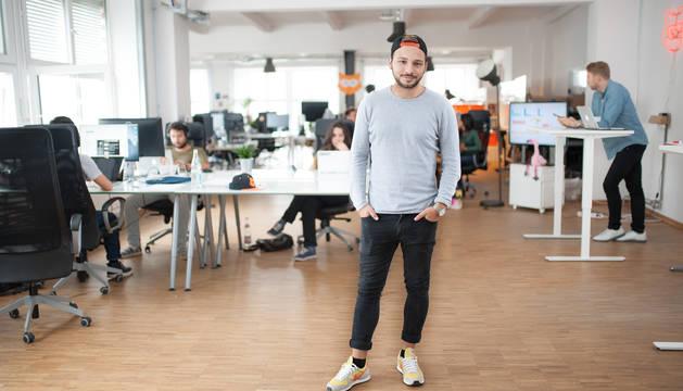Alessio Avellan Borgmeyer, fundador y CEO de Yodel, en las oficinas de la compañía que alcanzó el millón de usuarios en su primer año en funcionamiento.