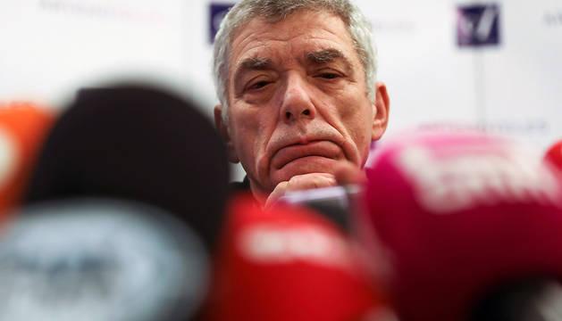 Villar, durante la rueda de prensa que ha ofrecido este lunes.