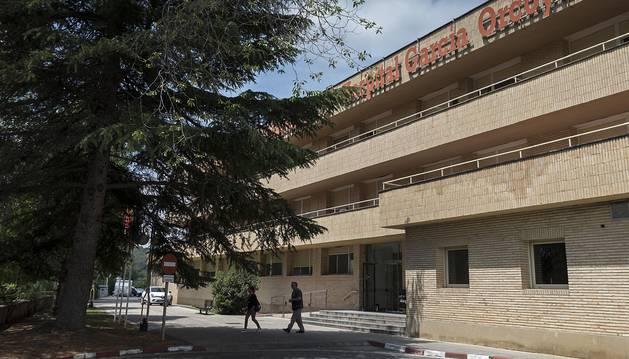 Fachada del edificio antiguo del hospital García Orcoyen de Estella.