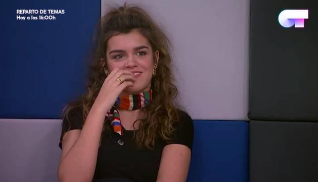 Amaia Romero durante el repaso de la gala 8.