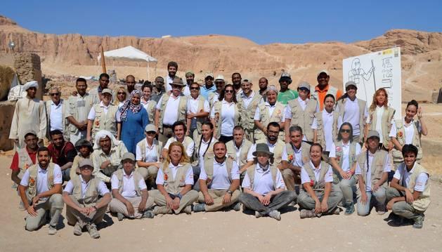 Fotografía facilitada por el Proyecto Visir Amen-Hotep Huy del equipo español en Luxor.