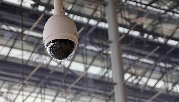 Foto de un sistema de videovigilancia