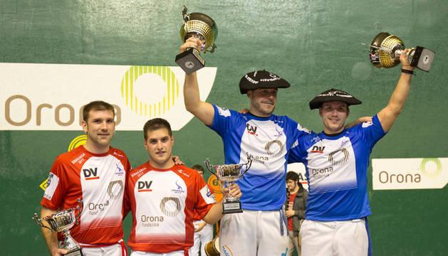 Uterga-Etxeberria III conquistaron ayer el título de campeones del Parejas de remonte ante Ezkurra II-Endika.