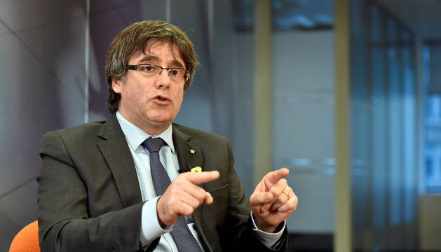 El candidato de JuntsxCat en la entrevista que le han realizado en Bruselas