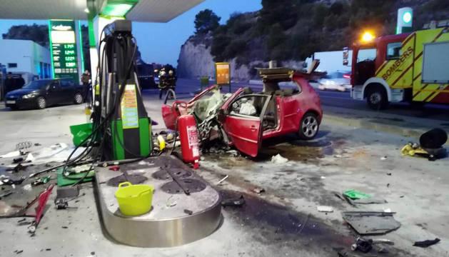 El accidente tuvo lugar en una gasolinera en la N-340.