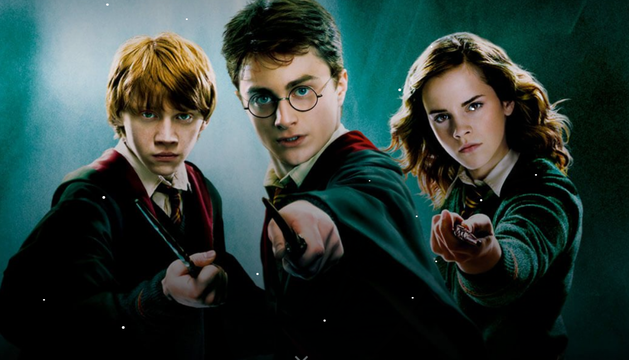 Imagen de Ron, Hermione y Harry Potter