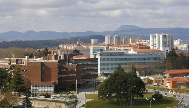 Vista general del Complejo Hospitalario de Navarra (CHN), en Pamplona.