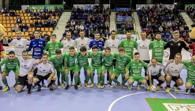 Osasuna Magna, Osasuna, Osasuna femenino y amigos de Puñal disputaron un torneo benéfico organizado por Sadar Bizirik.