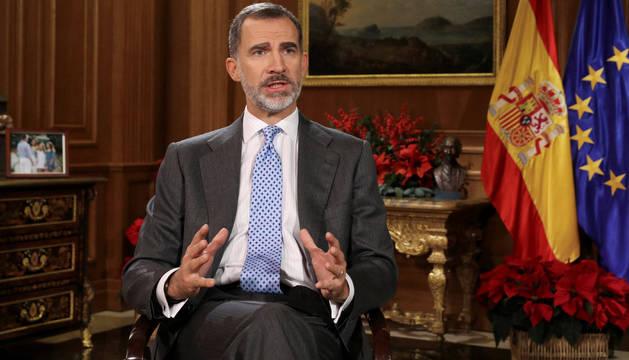 Foto del mensaje navideño de Felipe VI.