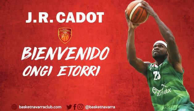 El club navarro da la bienvenida a J.R. Cadot.