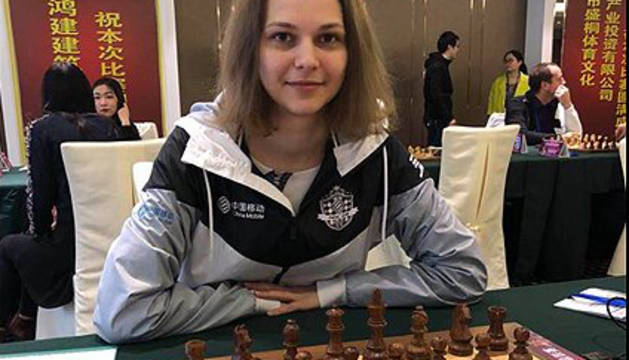 Anna Muzychuk, actual campeona del mundo de ajedrez.