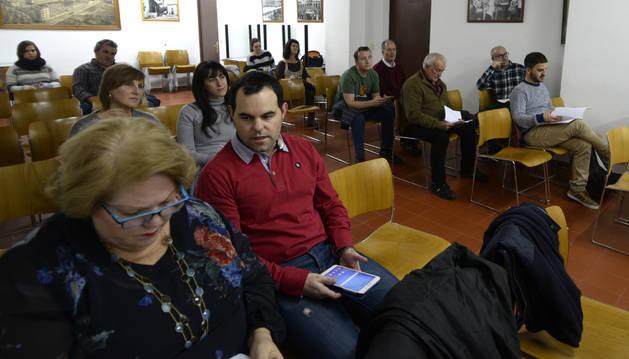 Foto de un momento de la última asamblea de Mairaga.