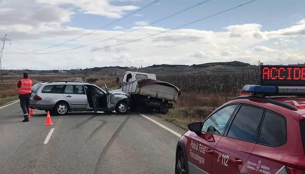 Foto del cccidente de tráfico en Corella.