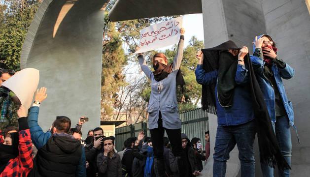 Protesta antigubernamental en Irán