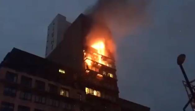 Incendio en un edificio de Manchester