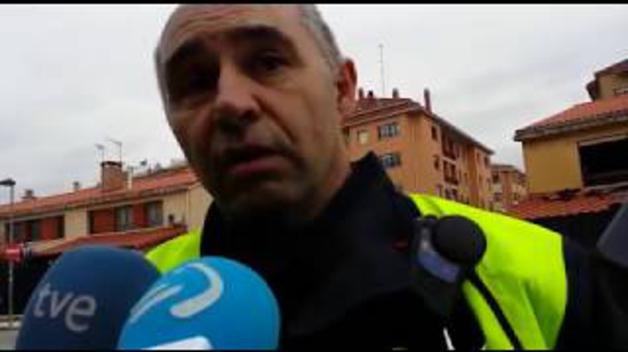 """Sargento de Bomberos: """"Si hubiera habido efectivos en Tafalla, se hubiera cortado antes"""""""