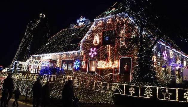 La vivienda con las 350.000 bombillas